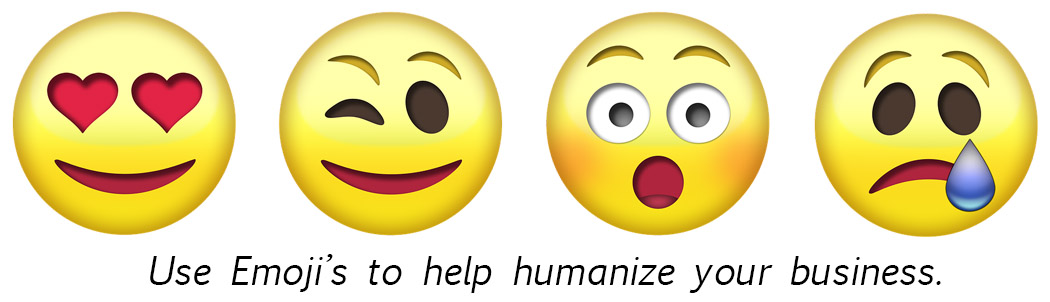 Emojis can humanize your brand
